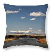 Hwy 142 Rio Grande River Throw Pillow