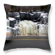 Hwy Ice   Throw Pillow