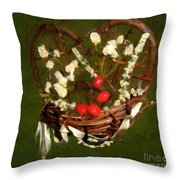 Hyacinth Heart Throw Pillow