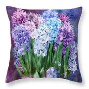 Hyacinth In Hyacinth Vase 1 Throw Pillow