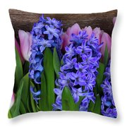Hyacinths And Tulips II Throw Pillow