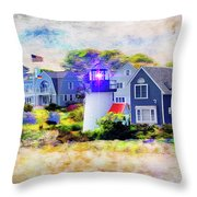 Hyannis Lighthouse Throw Pillow