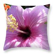 Hybiscus Smile Throw Pillow