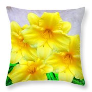 Hybrid Daffodils Throw Pillow