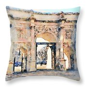 Hyde Park Entrance Throw Pillow