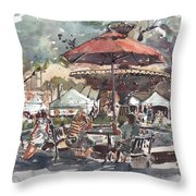 Hyde Park Market Plein Air Throw Pillow