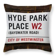 Hyde Park Place Throw Pillow