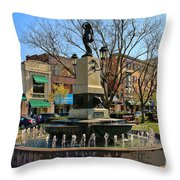 Hyde Park Square  4183 Throw Pillow