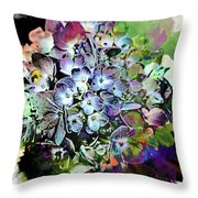 Hydrangea Abstract Throw Pillow