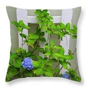 Hydrangea Blooming In October Throw Pillow