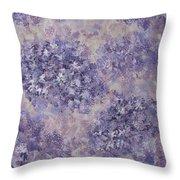 Hydrangea Blossom Abstract 1 Throw Pillow