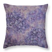Hydrangea Blossom Abstract 2 Throw Pillow