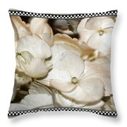 Hydrangea Blossom Framed Throw Pillow
