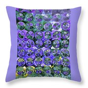 Hydrangea Bubbles Throw Pillow