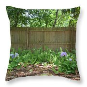 Hydrangea Bushes Throw Pillow