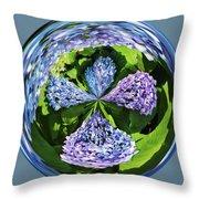 Hydrangea Cross Throw Pillow