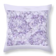 Hydrangea Digital In Lilac Throw Pillow