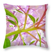 Hydrangea Flower Inside Floral Art Prints Baslee Troutman Throw Pillow