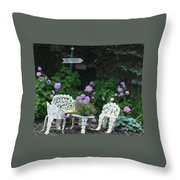 Hydrangea Glory Throw Pillow