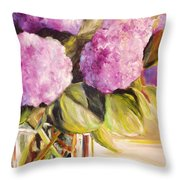 Hydrangea Heaven Throw Pillow