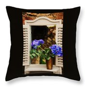 Hydrangeas In A Vase Throw Pillow