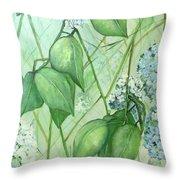 Hydrangea In Green Throw Pillow