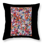 Hydrangea In Red Whirlpool Throw Pillow