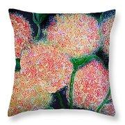 Hydrangea Inspiration Throw Pillow