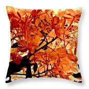 Hydrangea Macro In Autumn Throw Pillow