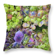 Hydrangea  One Throw Pillow