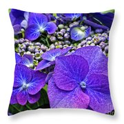 Hydrangea Plant Throw Pillow