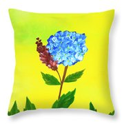 Hydrangea Watercolor Throw Pillow