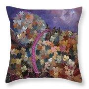 Hydrangeas 45 Throw Pillow