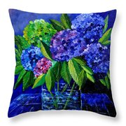 Hydrangeas 88 Throw Pillow