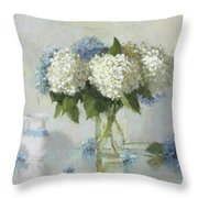 Hydrangeas For Susan Throw Pillow