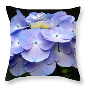 Hydrangeas In Purple Throw Pillow