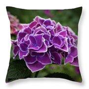 Hydrangeas In The Summer Throw Pillow