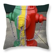 Hydrant With A Facelift Throw Pillow