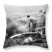 Hydraulic Gold Mining C. 1889 - S. Dakota Throw Pillow