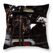 Hydraulic-mechanical Managerie Throw Pillow
