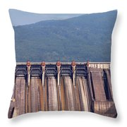Hydroelectric Power Plants On River Industry Throw Pillow