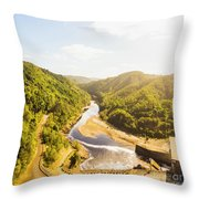 Hydropower Valley River Throw Pillow