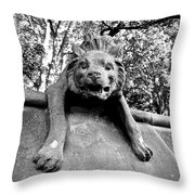 Hyena On The Wall Throw Pillow