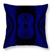 Hyper Tidal Blue Throw Pillow
