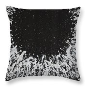 Hyperspace Original Painting Throw Pillow