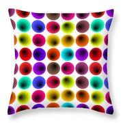 Hypnotized Optical Illusion Throw Pillow