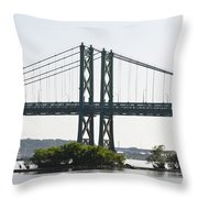 I-74 Bridge Throw Pillow