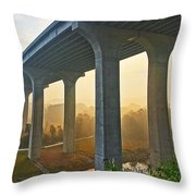 I-80 In Cuyahoga Valley National Park Throw Pillow