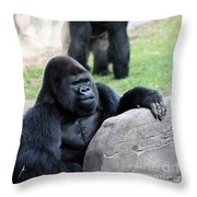 I Always Feel Someone Watching Throw Pillow