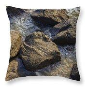 I Am A Rock Throw Pillow